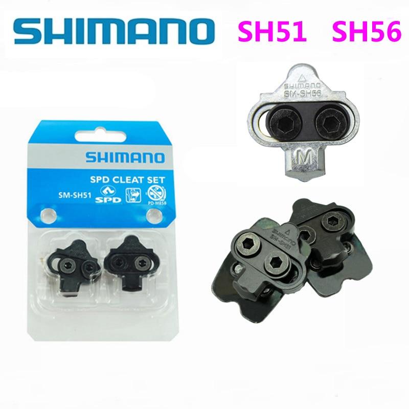 Shimano SPD SM SH51 SH56 Stollen MTB Bike Release Multi-Release Pedal Stollen W/Cleat Mutter Platten Float Berg Paar CLEAT Set