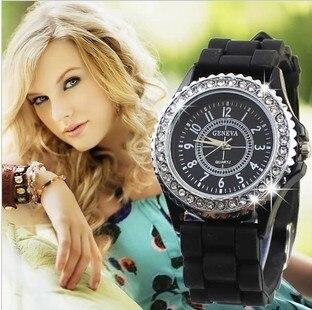 NEW Luxury Brand Silicone Quartz Watch Women Ladies Fashion Bracelet Wristwatches Clock female relogio feminino 8A35