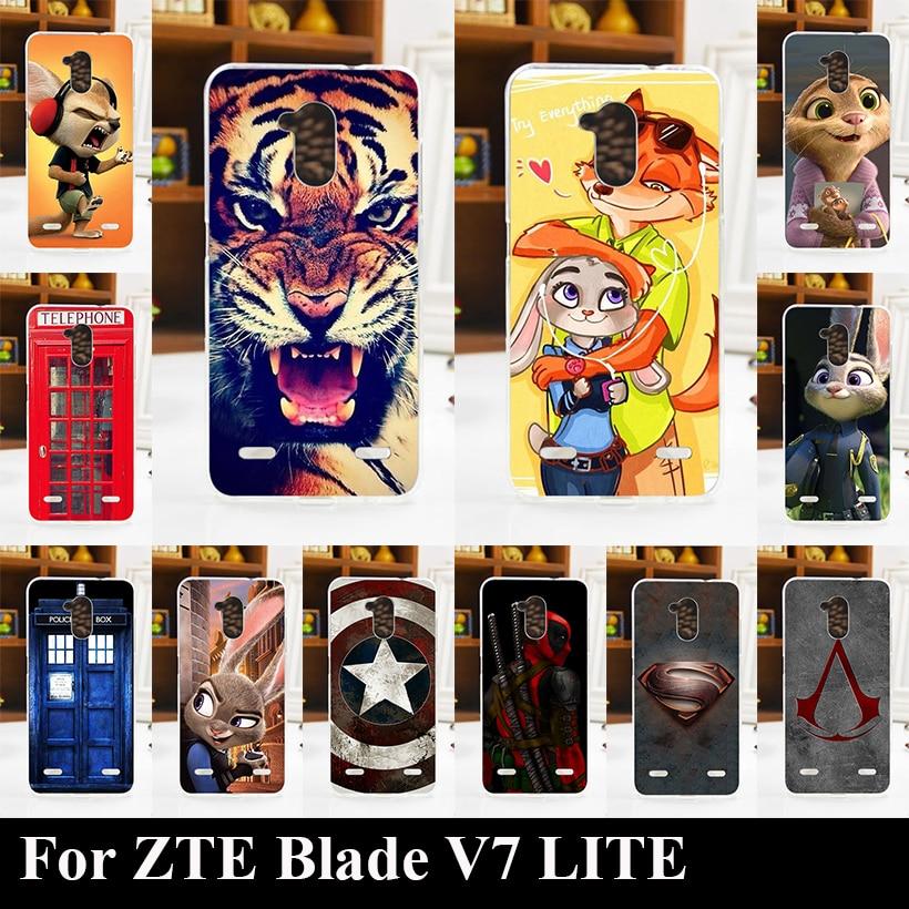 ZTE Blade V7 LITE Transpatent Soft Silicone tpu Color Paint Case V7LITE Mobile Phone Cover  -  AkiAk1 Store store