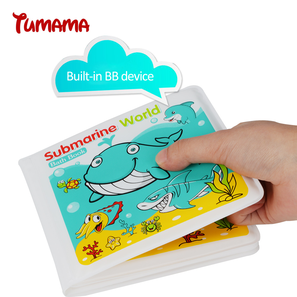 Tumama Waterproof Baby Bath Book Kid Playing Bath Toy Learning ...