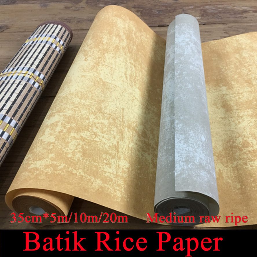35cm*20m/5m Batik Rice Paper Roll for Painting Calligraphy Art Supply steven rice m 1 001 series 7 exam practice questions for dummies