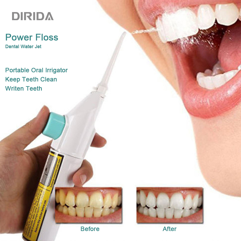 DIRIDA Portable Water Flosser New Cordless Oral Irrigator Tooth Cleaner Water Jet Dental Hygiene Floss Oral Care Teeth Whitening