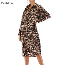 hot deal buy 2019 spring leopard dress women loose dress female sexy leopard midi chiffon dresses for woman street straight bodycon