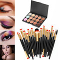 GS 15 Colors Professional Contour eyeshadow cream Makeup Concealer Palette + 20 PCS BRUSH Aug 3