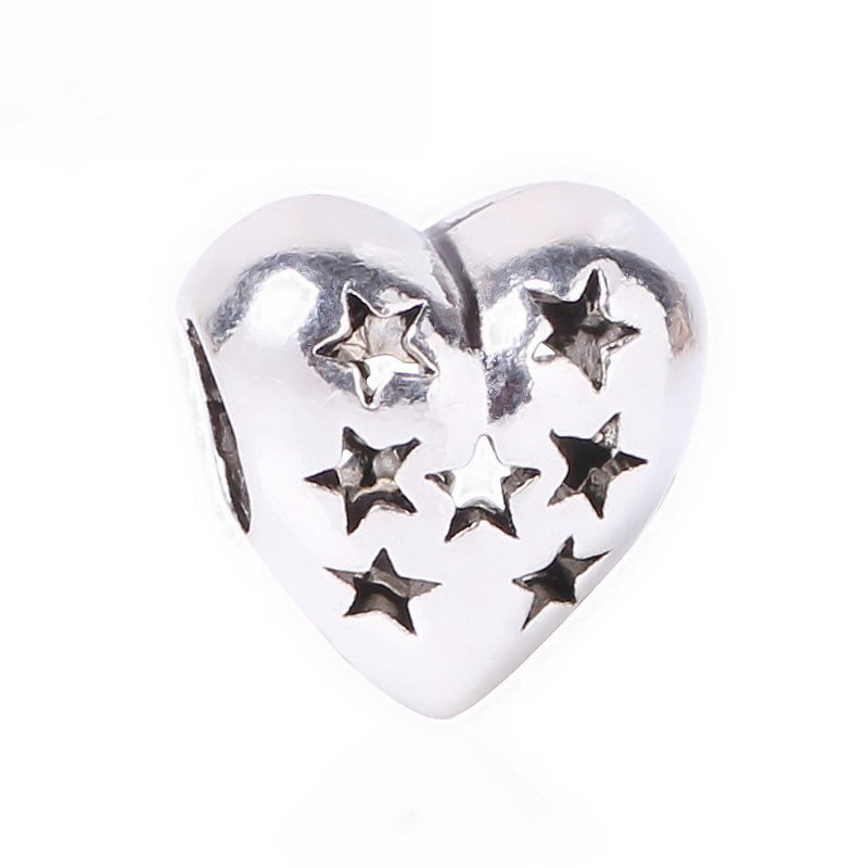 Silver 925 Family Charm Open Work Star Silver Charms Jewelry Bracelets On MotherS Day Fits Pandora Beads Jewelry Making