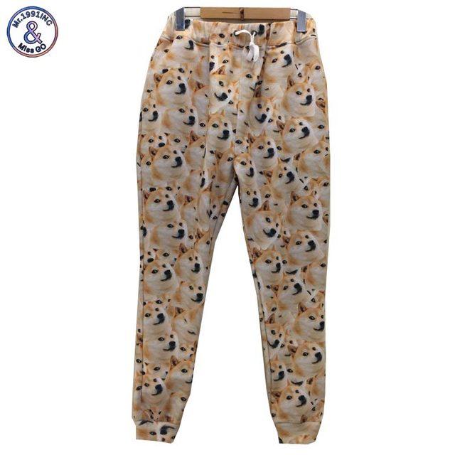 Mr.1991INC 3d брюки Новая мода мужчины/женщины 3d брюки забавный отпечатано многие желтые собаки случайных брюки 3d Хип-Хоп размер S-XL P9