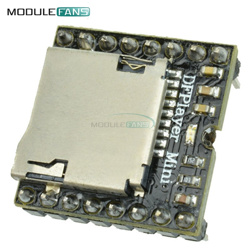 Hard-Working Mp3 Decode Module Dc 3.7v-5v Memory Play W/ Tf Card Socket Mono 2w Gpd2856c Decoding Play With Led Indicator Light Integrated Circuits