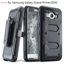 Heavy Duty Rugged Anti-strike Armor Phone Case for Samsung GALAXY Grand Prime G530 G531 SM-G531H G530F Cover with belt clip