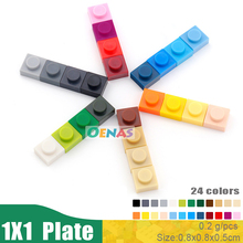 100g 520pcs/bag Educational Toy Plastic Building Blocks Accessories 1X1 Plate DIY Pixel Art for Kids and Adults Blocks in Bulk