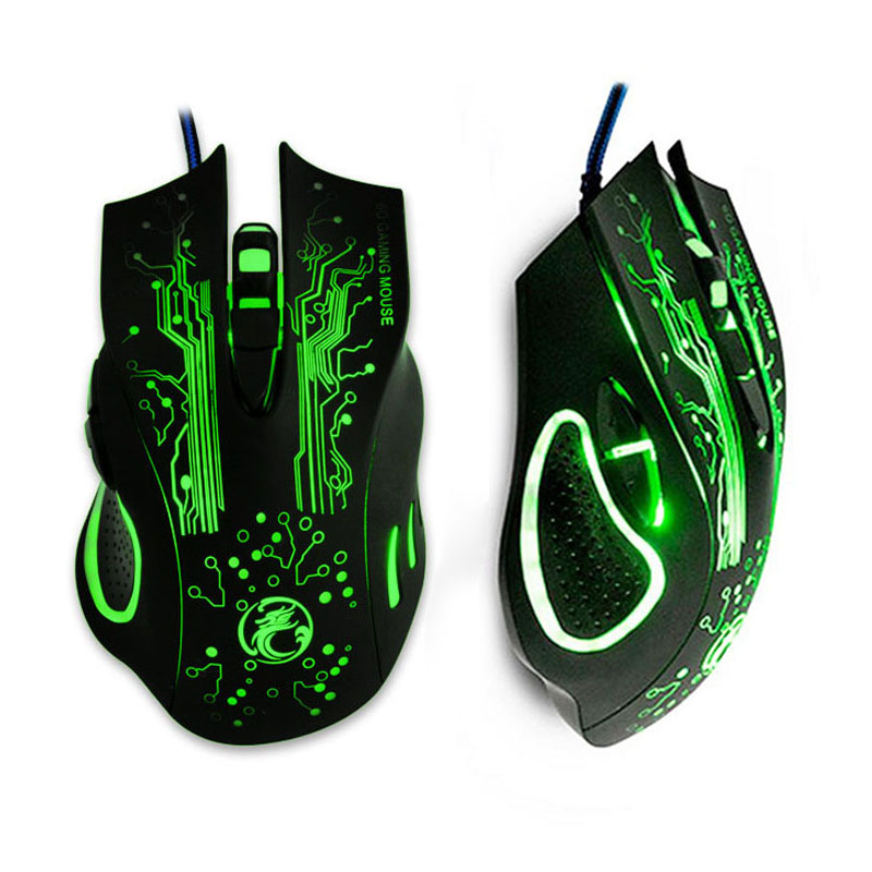 New 2016 iMICE-ESTONE X9 <font><b>5000DPI</b></font> LED Optical 6D USB Wired game Gaming Mouse For PC computer Laptop perfect upgrade combine image
