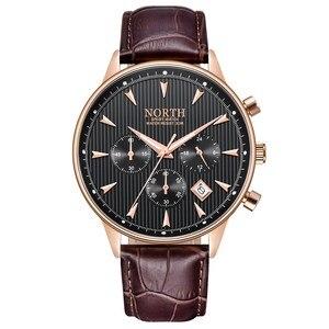 Image 5 - ผู้ชายดูหรูหราแฟชั่น Casual ชายนาฬิกาข้อมือควอตซ์ของแท้หนังผู้ชายนาฬิกา