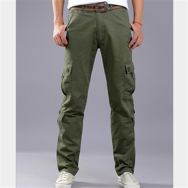 aa2f11e7f3f Size 28-42 Overalls Men s Cargo Pants Millitary Clothing Tactical Pants  Military Male Combat Camouflage