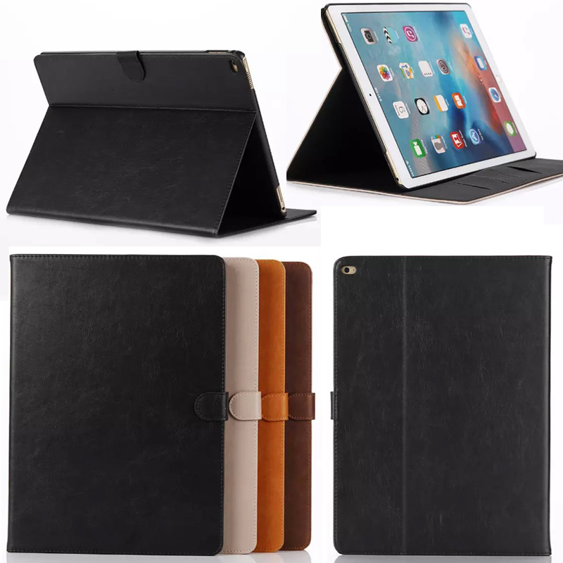 Business style Crazy Horse PU Leather case Cover For Apple i