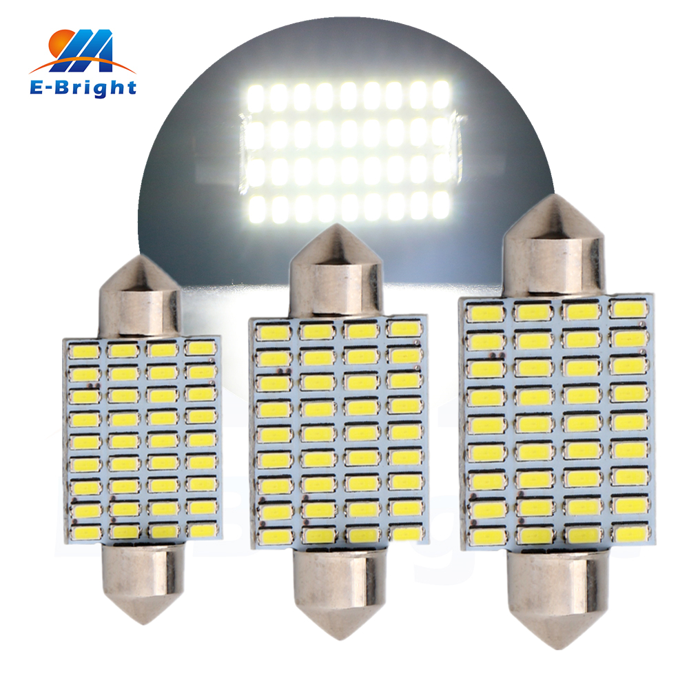 50pcs/lot 36mm 39mm 41mm 36Leds 12VDC 3014 LED TypeCars Dome Bulbs Pate Number Light Reading light Ceiling Lamps Cars Door Light