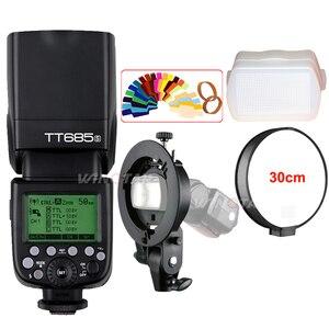 Godox TT685 TT685S 2.4G HSS 1/8000s TTL Camera Flash + Bowens S-Type Bracket for Sony A77II A7RII A7R A99 A58 A6500 A6000 A6300(China)