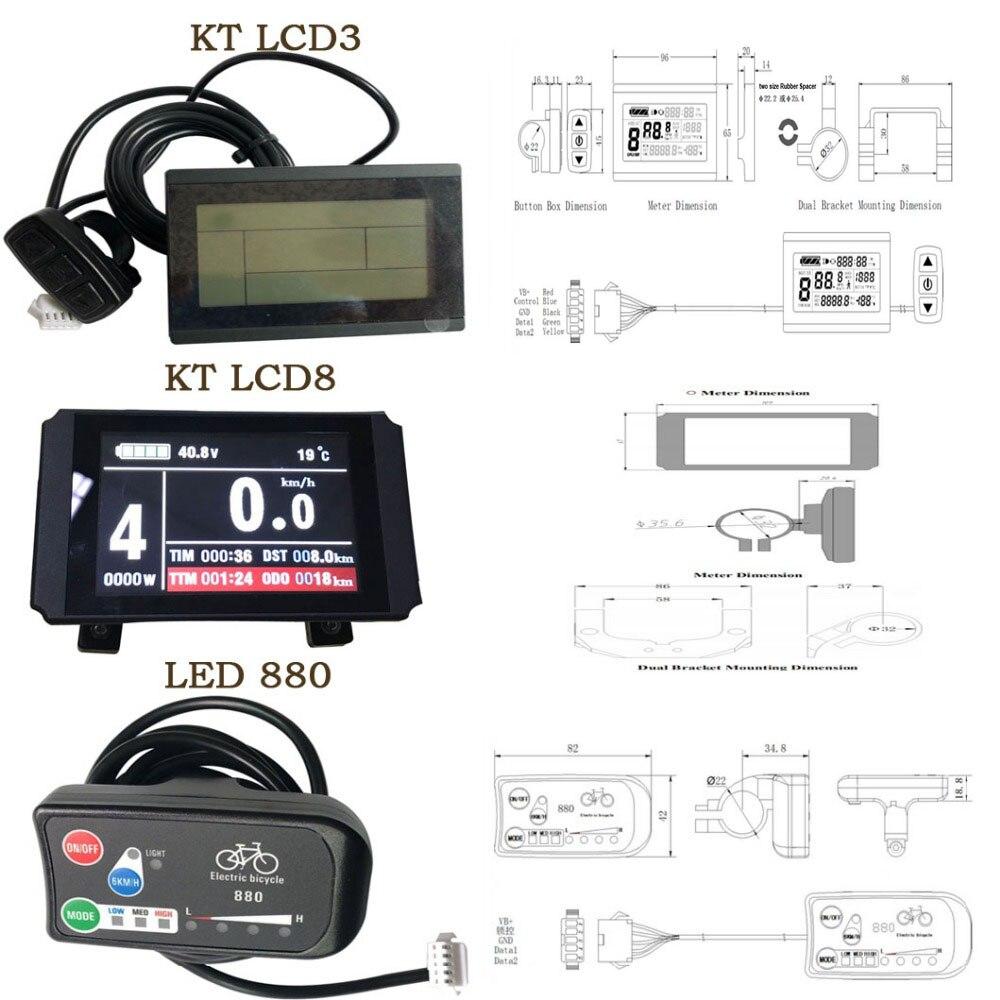 KT Lcd3 Lcd Display for Electric Bike 24V 36V 48V 60V 72V Intelligent LCD Panel
