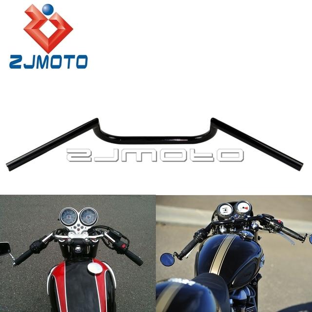 ZJMOTO Supermoto Motorcycle Black 7 8 Cafe Racer Clubman Handlebar Bars FOR Harley