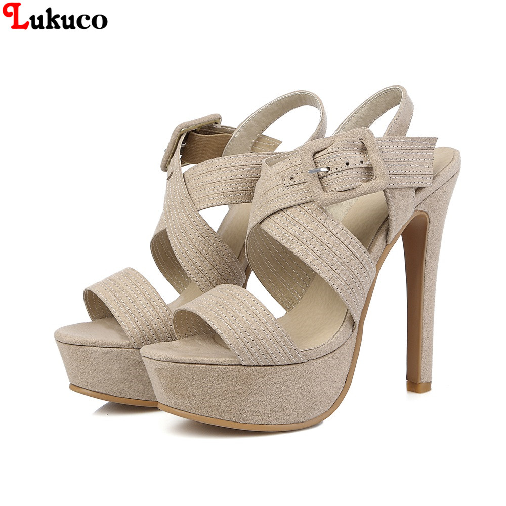 ФОТО NEW Popular high quality Flock sandals Size 43 44 45 46 47 48 Peep Toe LADY pumps free shipping