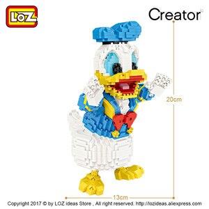 Image 3 - לוז מיקרו בלוקים חמוד Cartoon בעלי החיים פעולה איור אנימה יהלומי אבני בניין פלסטיק הרכבה צעצועי ילדים חינוכיים 9038
