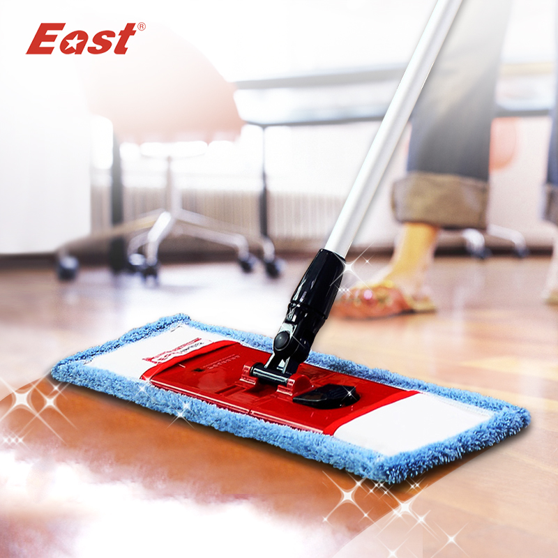 East flat telescopic pole microfiber cloth <font><b>towel</b></font> mop home floor kitchen living room cleaning dust mop supplier