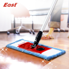 East  flat telescopic pole microfiber cloth towel mop  home floor kitchen living room cleaning dust mop supplier