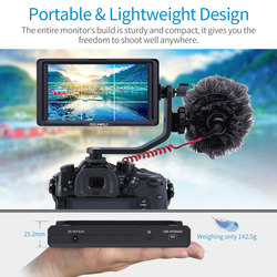 FEELWORLD F5 5 DSLR On Camera Field Monitor Small Full HD 1920x1080 IPS Video Peaking Focus Assist with 4K HDMI 8.4V DC Output