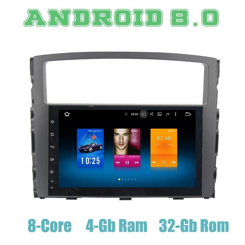 Lecteur radio GPS de voiture Octa core px5 Android 8.0 pour mitsubishi pajero V97 V93 avec 4G RAM wifi 4g usb multimédia automatique