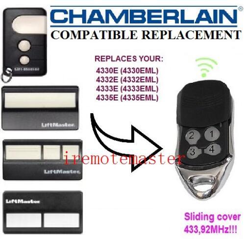 Compatible Chamberlain 4335E 4330E 4332E replacement remote control free shipping 433.92MHZ