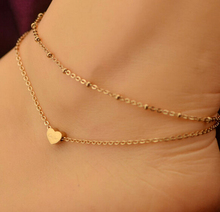Fashion Love Heart Anklet Ankle Bracelet Foot Jewelry Anklets Foot Chain Beach Summer Jewellry