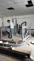 Szanghaj Chiny fabryka produkcji kute Żelazne drzwi wysokiej jakości eksport do USA, model hench-ad4