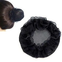 Women Ballet Dance Skating Snoods Hair Net Bun Black Color for Ponytail