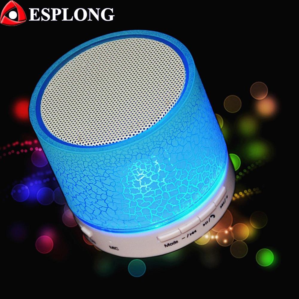 A9 LED Mini Sans Fil Bluetooth Haut-Parleur TF USB AUX FM Radio Musique Haut-parleurs Portables Main-livraison Pour téléphone avec Microphone