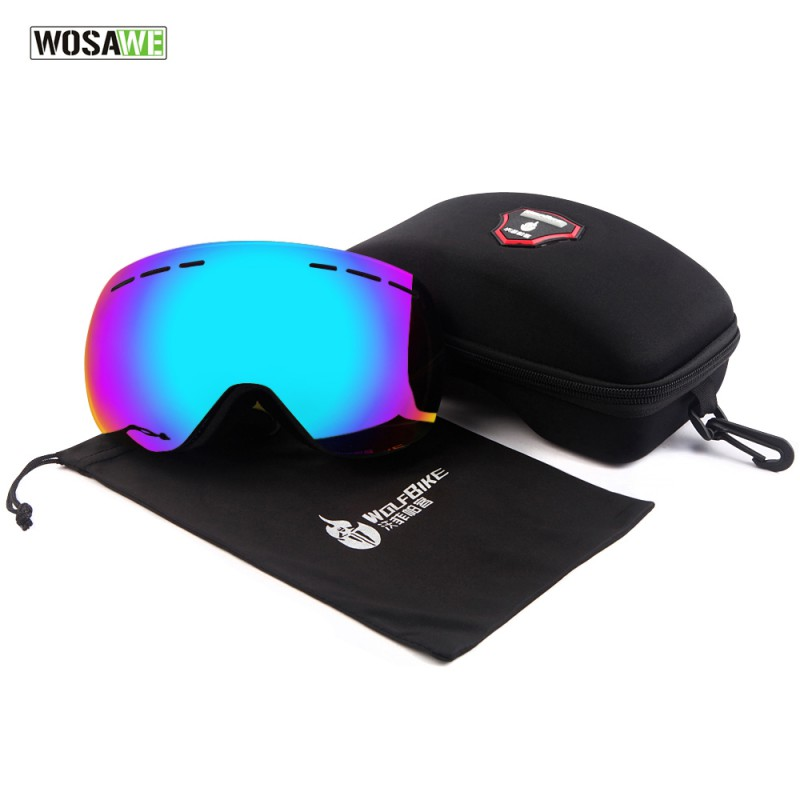 New Cool Autumn Winter Skiing Mirror Riding Glasses Goggles Motorcycle Double Large Anti-fog ball anti-goggles