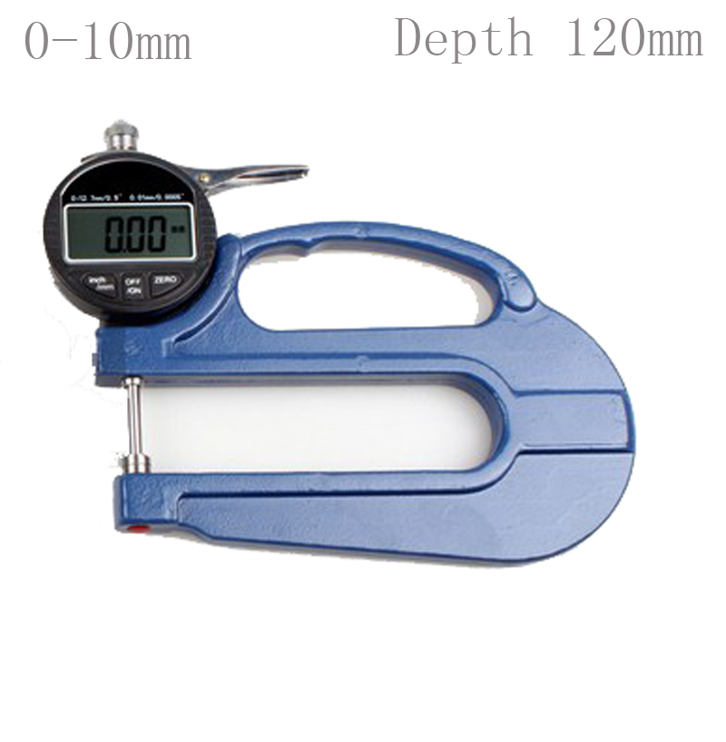 Digital Thickness Gauge Thickness measuring instrument  range 0-10mm/ 0.01mm free shipping