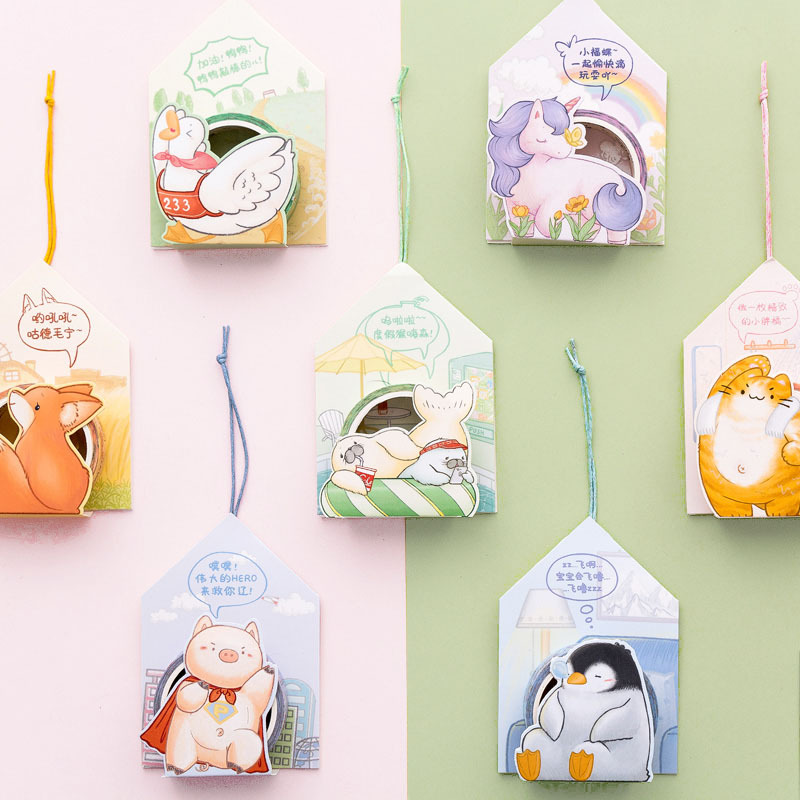 Animal Unicorn Penguin Seals Bullet Journal Washi Tape Set Adhesive Tape DIY Scrapbooking Sticker Label Craft Masking Tape