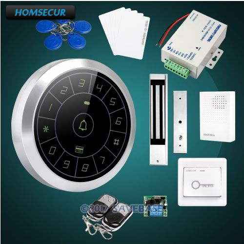 HOMSECUR Stylish Round Door Lock ID Access Control System With 280KG Magnetic Lock все цены