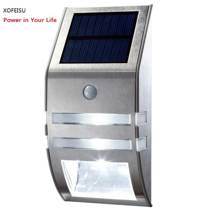 Solar lamp Outdoor 2 LED 120LM PIR Solar Bewegingssensor Lamp Tuin - Buitenverlichting