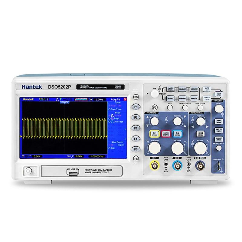 Oscilloscope hantek dso5202p Digital storage oscilloscope 200MHz 2Channels 1GSa/s LCD Record Length 40K USB oscilloscope