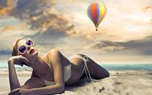 Music women females girls models blondes style fashion bikini swimwear clothes sexy 4 Sizes Home Decor Canvas  Poster Print