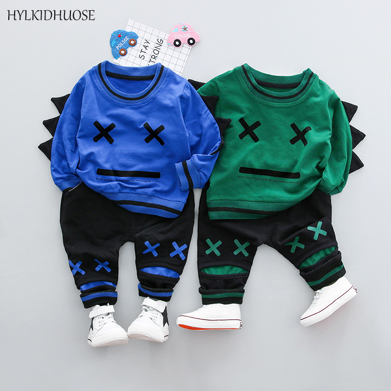 HYLKIDHUOSE 2018 Spring Children Clothes Sets Baby Girls Boys Suits Good Quality Cotton T Shirt+Pants Inafnt Kids Casual Suits