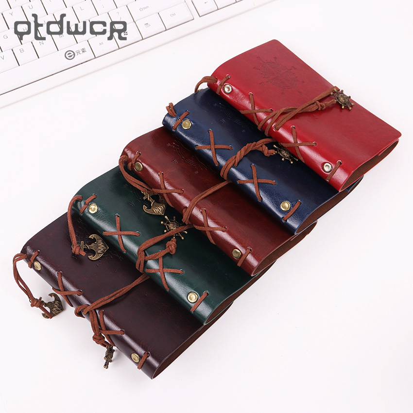New Diary Notebook Vintage Pirate Note Book Replaceable Traveler Notepad Book Leather Cover Kraft Paper Notebook 2017 hot sale death note notebook