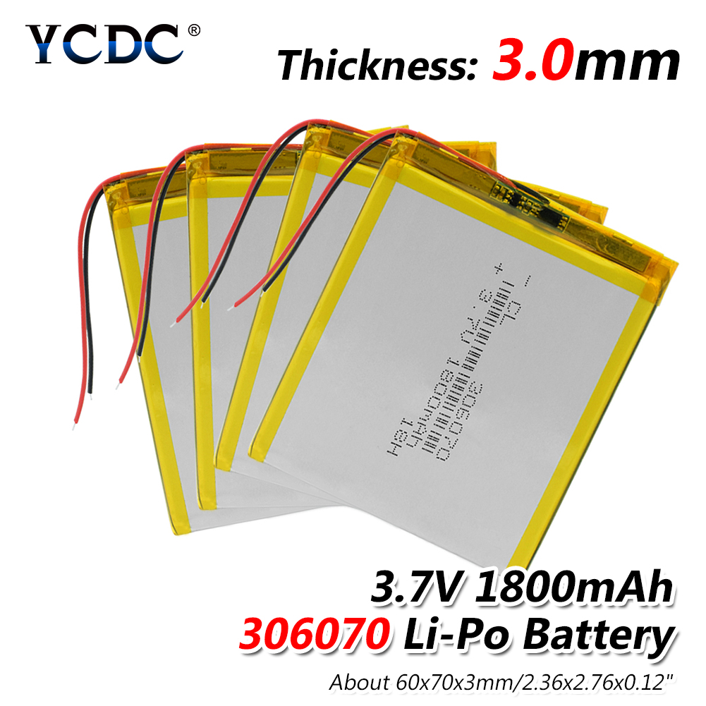 1/2/4 Pcs High Power 1800mah Tablet PC Camera MP4 MP5 GPS Power Bank Li-polymer Rechargeable Battery Lithium Lipo Batteries