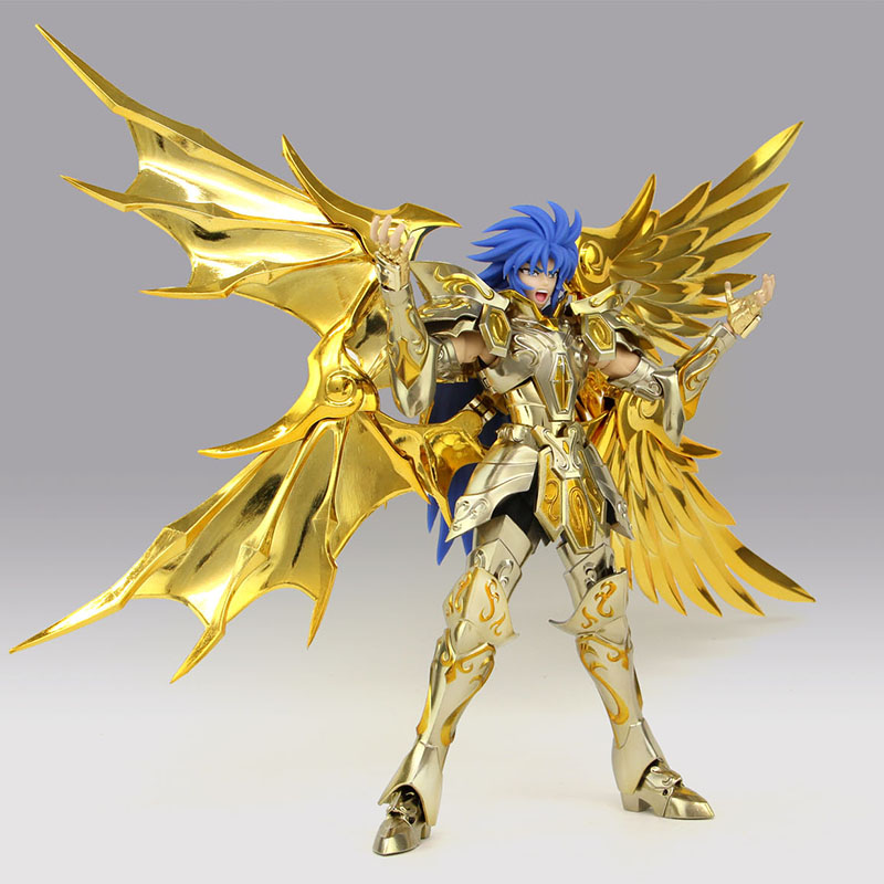 18cm Great toys EX Soul Of Gold Gemini SaGa Saint Seiya Metal Armor Myth Cloth Action Figure Collection Toys cmt in storelc model gemini saga kanon saint seiya myth cloth gold ex gemini saga kanon action figure