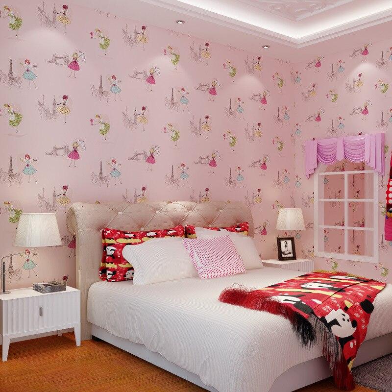 papier-peint-motif-font-b-ballet-b-font-de-dessin-anime-papier-peint-pour-chambre-garcons-et-filles-bleu-et-rose
