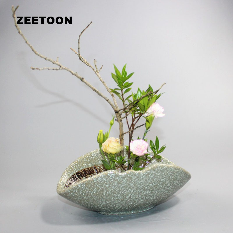 Creative Japanese Floral Art Elegant Vase Ikebana Tabletop Flowerpot Hydroponic Flower Pot Small Fish Tank Vintage Home Decor Flower Pots Planters Aliexpress