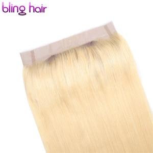 Image 4 - Bling Saç 360 Dantel Frontal Kapatma Brezilyalı Remy İnsan Saç Sarışın 613 Frontal Düz Saç Kapatma Ile Bebek Saç Ücretsiz parça
