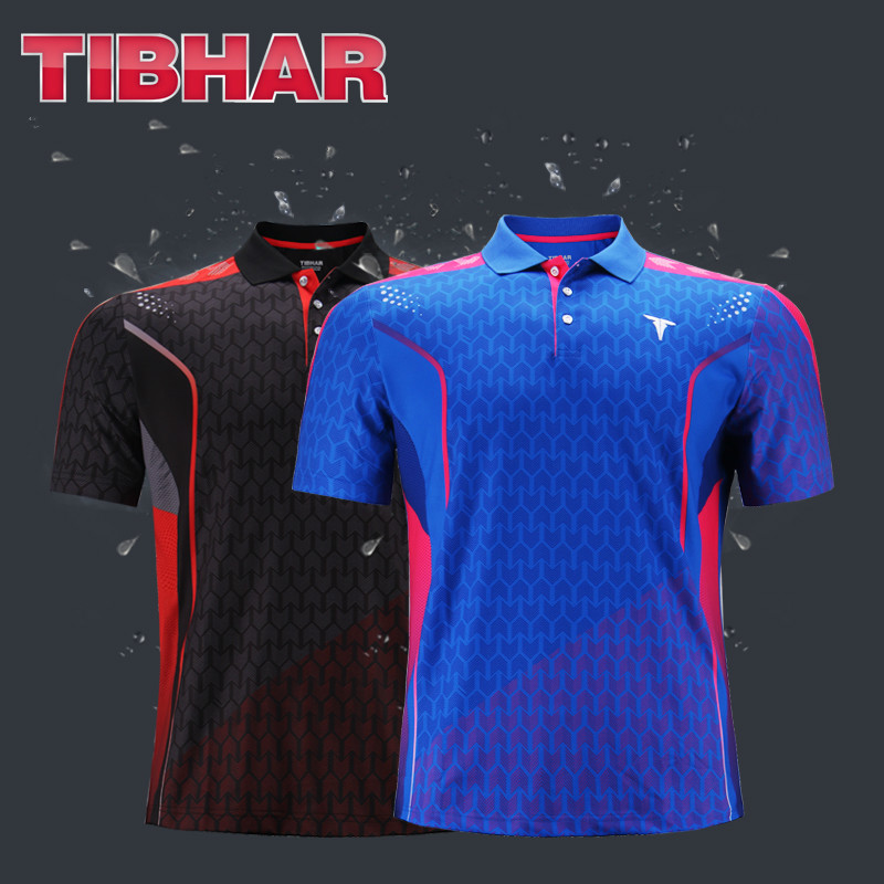 Tibhar Table-Tennis-Jerseys Tibhar-National-Team Original T-Shirts Clothing Ping-Pong