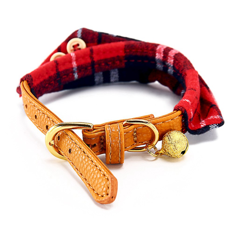 Cat Collar With Bell Dog Collar For Cats Solid Braid Kittens Pet Cat Collars Shiny Adjustable Collars For Cats Pet Lead Supplies (8)