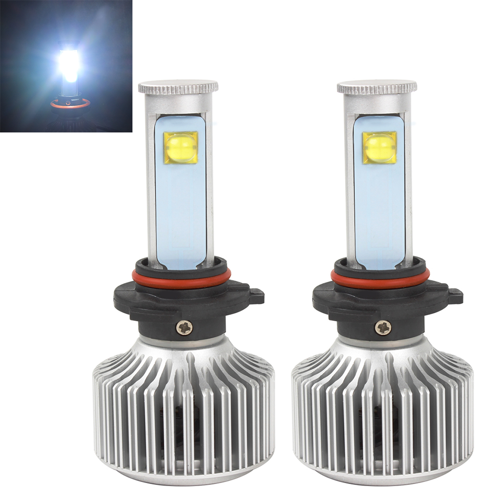 40W/Each Bulb 6000K 3600LM 9006 All-in-one Version of X7 LED Headlight Light Source Car Styling