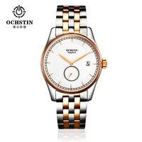 럭셔리 브랜드 시계 남성 비즈니스 전체 스틸 쿼츠 손목 시계 남성 날짜 방수 크로노 그래프 시계 Relogio Masculino Montre